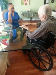Safe and happy in a senior care home